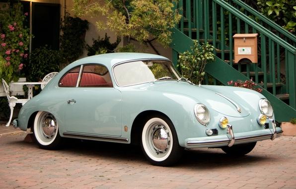 Picture blue, coupe, Porsche, Porsche, Coupe, blue, 356