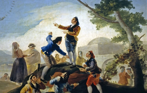 Picture the game, picture, leisure, genre, Francisco Goya, Kite