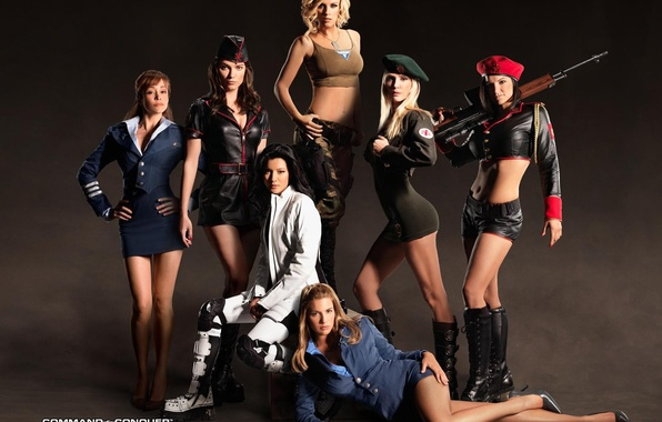 Picture weapons, girls, red alert 3