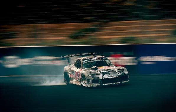 Picture skid, drift, Mazda, formula drift, Mazda RX-7