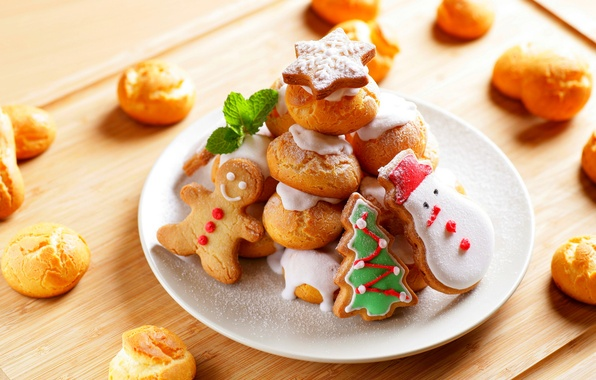 Picture food, New Year, cookies, Christmas, Christmas, food, cakes, holidays, New Year, cookies, Holidays, Christmas