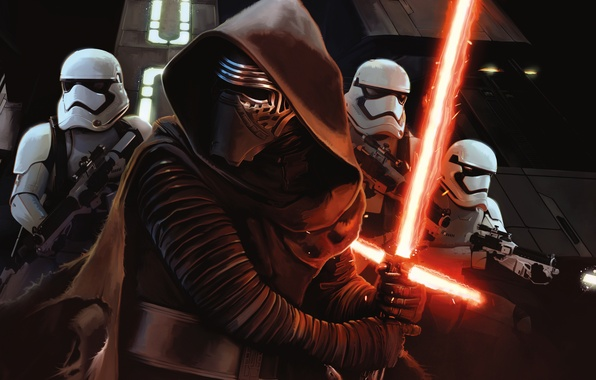 Picture Sci-Fi, The, Kylo Ren, Force, Sword, StarWars, Warriors, Wallpaper, Fantasy, Laser, Walt Disney Pictures, Star ...