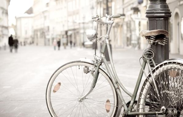 Picture bike, city, the city, background, widescreen, Wallpaper, street, mood, post, wheel, wheel, wallpaper, different, bike, …