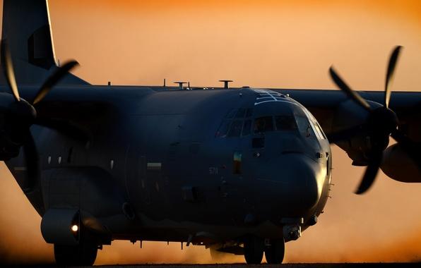 Picture aviation, the plane, military transport, Super Hercules, C-130J