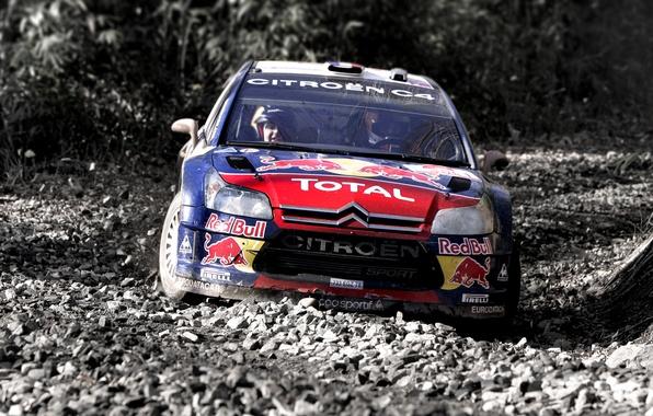 Picture Auto, Sport, Machine, Stones, Turn, Skid, Citroen, Gravel, WRC, Rally, Rally, The roads