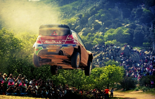 Picture Ford, Auto, Trees, Sport, Machine, People, Ford, Race, Car, Rally, Rally, Sport, The competition, Abu-Dhabi