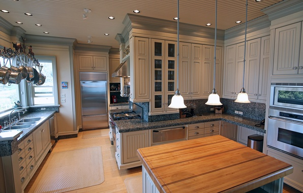 Picture wooden, home, luxury, kitchen
