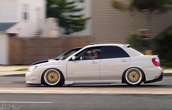 Picture Subaru, Impreza, WRX, White, Sti, Stance, Rigshot