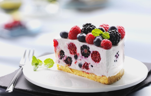 Picture raspberry, food, blueberries, cake, cake, fruit, cake, cream, dessert, food, sweet, fruits, cream, dessert, raspberry, …