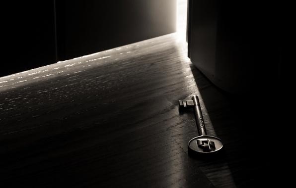 Picture light, darkness, room, the door, macro key