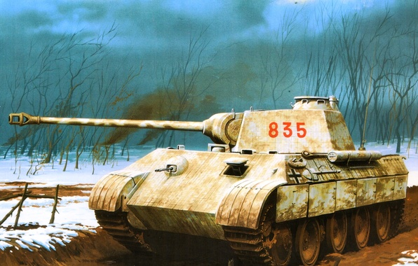 Picture figure, Panther, tank, the Germans, the Wehrmacht, average, PzKpfw V, Wrobel