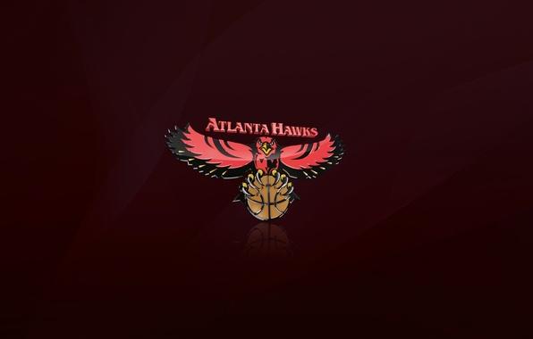 Picture Red, The ball, Basketball, Background, Logo, NBA, Hawks, Atlanta Hawks