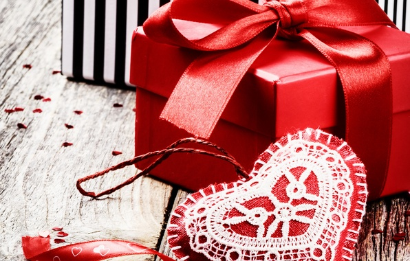 Picture photo, Heart, Holiday, Valentine's day, Bow, Gifts
