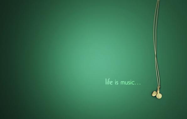 Picture life, music, music, headphones, life