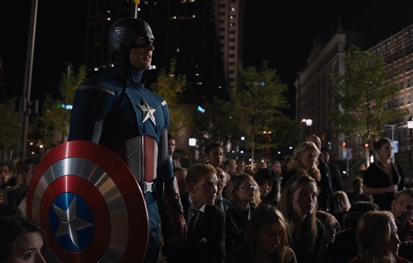 Picture the crowd, costume, team, shield, Marvel, Captain America, superheroes, Chris Evans, The Avengers, The Avengers, …