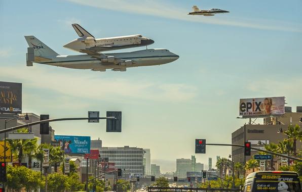 Picture CA, Shuttle, NASA, Los Angeles, Los Angeles, California, shuttle, Endeavour
