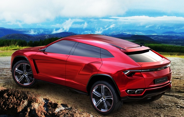 Picture machine, SUV, the concept, red, Lamborghini Urus