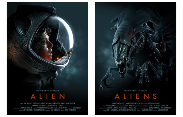 Picture aliens, Alien, science fiction, 1979, pearls, 1986, space suit, Sigourney Weaver, posters of classic movies