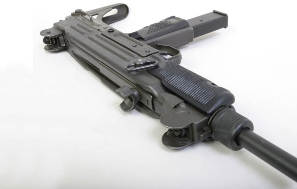 Picture weapons, white background, Uzi, Israel Military Industries, the gun, Ultrasound, Israel, IMI