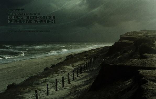 Picture shore, storm, Wave