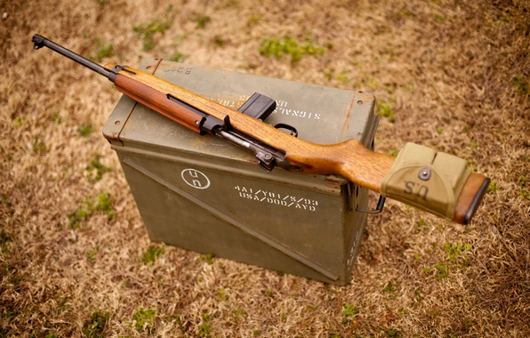 Picture grass, box, military, carabiner, easy, self-loading, M1 Carbine