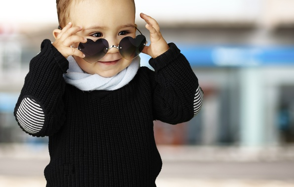 Picture children, style, heart, child, style, heart, street, funny, child, funny, children, kid, sunglasses, sunglasses