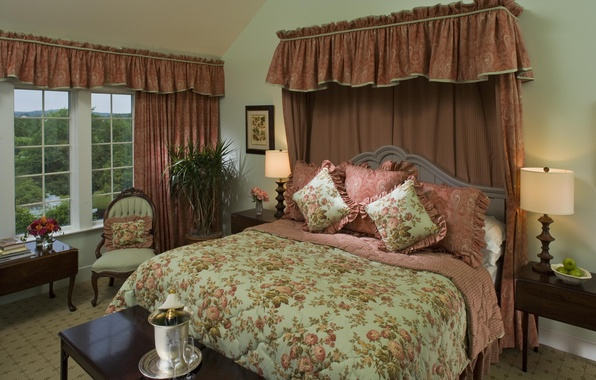 Picture design, house, style, Villa, interior, cottage, bedroom, living room