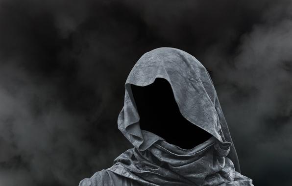 Wallpaper dark, black, shadows, mysterious, hooded ...