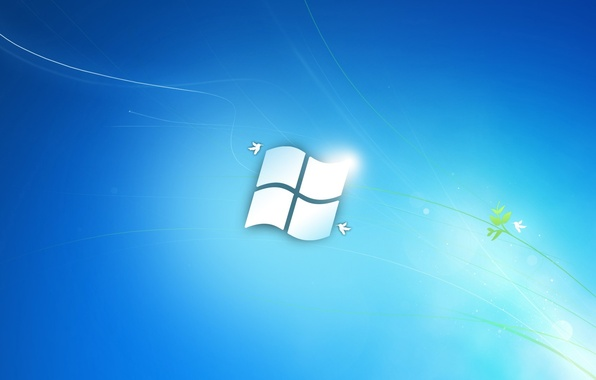 Picture blue, background, Windows, Microsoft