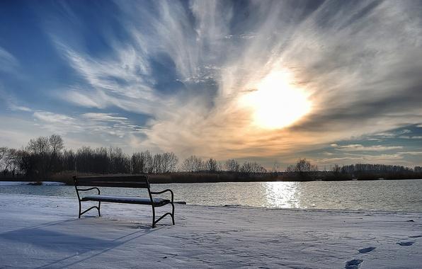 Picture winter, snow, shop