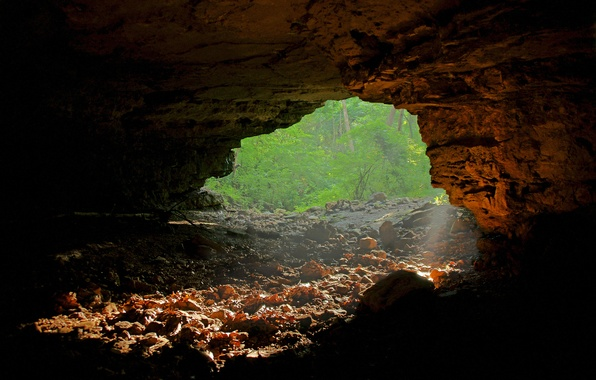 Picture rays, light, cave, entrance