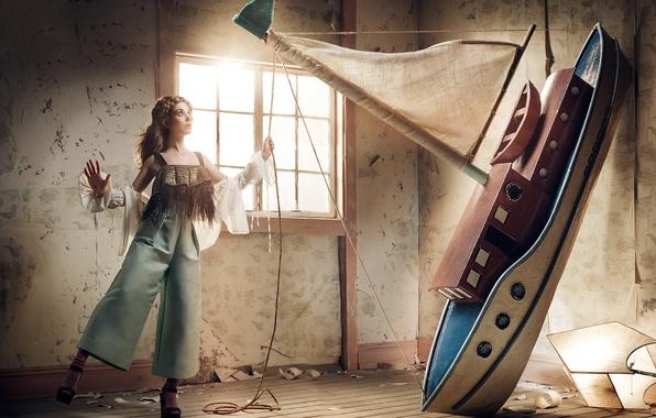 Picture model, actress, boat, Alison Brie, Alison Brie, VVV, Robert Ascroft