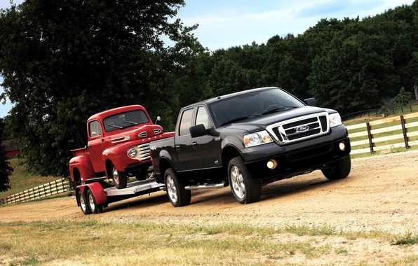 Picture ford, the trailer, truck, f150
