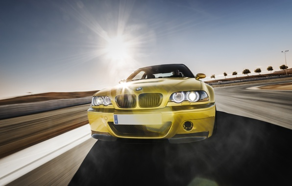 Picture BMW, BMW, before, gold, E46, gold