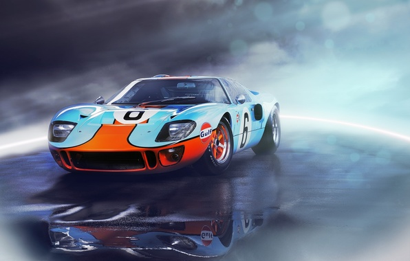 Picture Ford, front, GT40