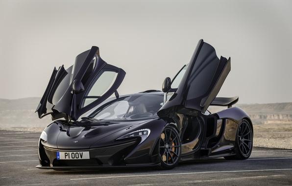 Picture McLaren, Black, McLaren, Supercar