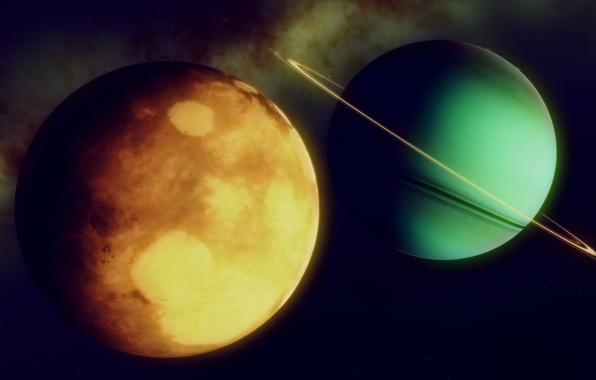 Picture space, planet, belt