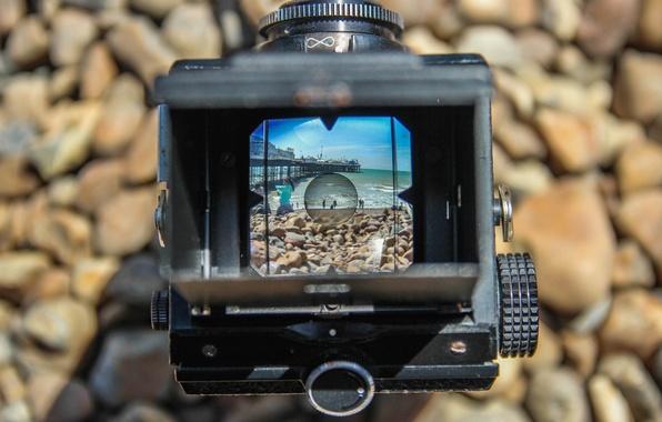Picture beach, retro, focus, camera, the camera, retro, camera, old, the