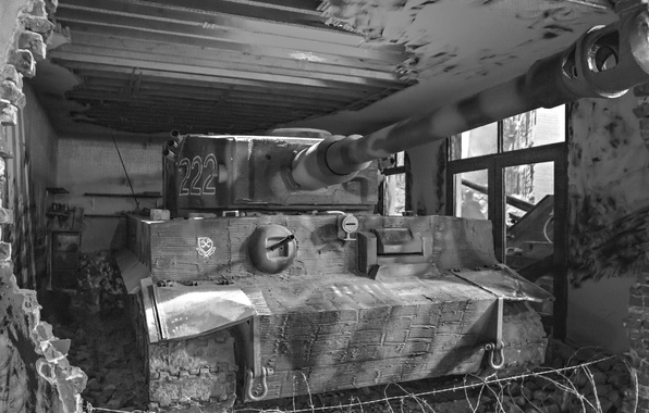Picture Tiger, the ruins, German heavy tank, tiger I