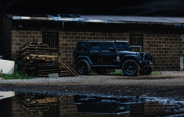 Picture car, black, jeep, wrangler, unlimited, vnedorozhnye