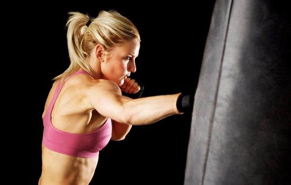 Picture boxing, female, workout, gloves