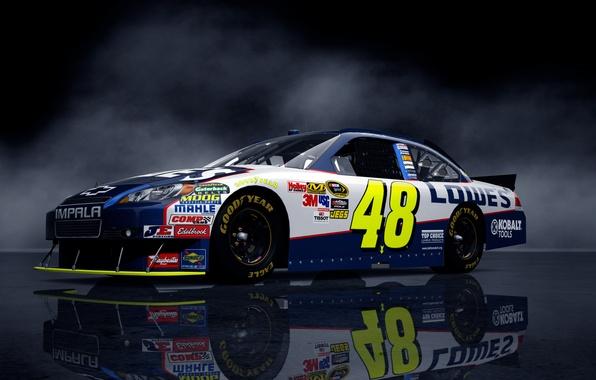 Picture background, lights, Chevrolet, car, NASCAR, NASCAR