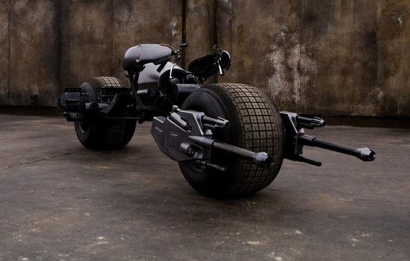 Photo wallpaper Batman, motorcycle, The dark knight