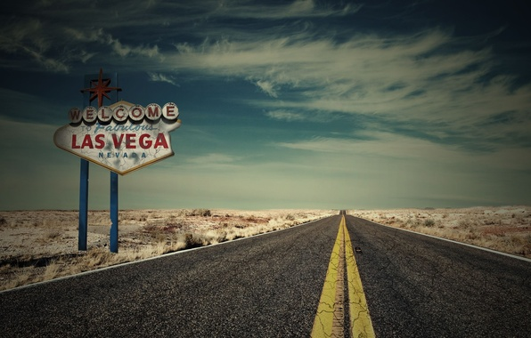 Picture road, machine, the sky, clouds, nature, background, widescreen, Wallpaper, plate, track, wallpaper, widescreen, Las Vegas, …