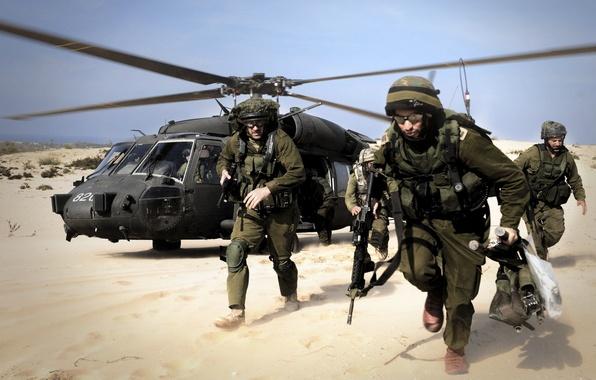 Picture desert, army, Israel, landing