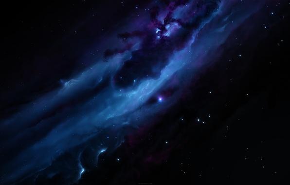 Picture nebula, the dark background, starkiteckt