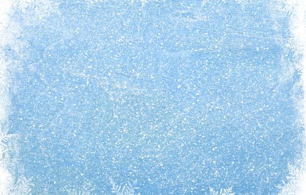 Picture winter, snow, snowflakes, blue, winter, snow, snowflakes