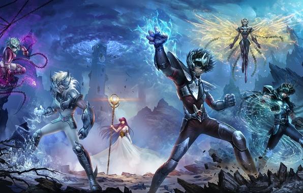 Wallpaper The Sky Fantasy Magic Tower Armor Anime Heroes