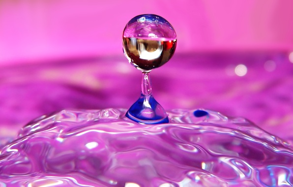 Picture WATER, MOVEMENT, SPHERE, DROPS