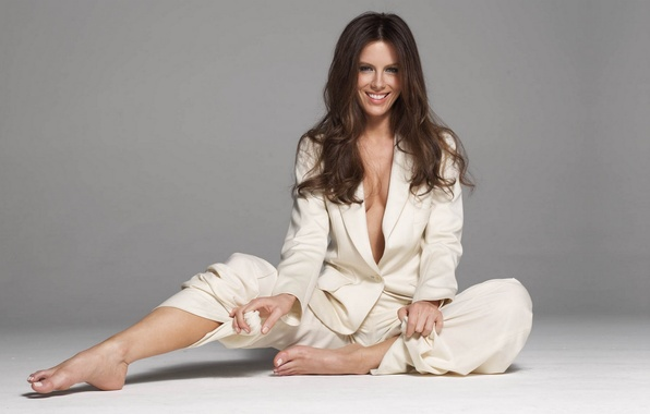 Picture smile, actress, costume, Kate Beckinsale, Another world, light background, Kate Beckinsale